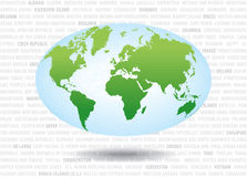 Mundo map2 ilustración del vector