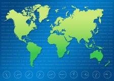 Mundo map3 Imágenes de archivo libres de regalías