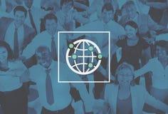 Mundo mundial internacional da comunidade global conectado Imagem de Stock Royalty Free