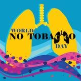 Mundo nenhum dia do tabaco Imagens de Stock Royalty Free