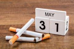 Mundo nenhum dia do tabaco Foto de Stock
