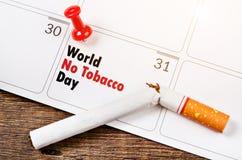 Mundo nenhum dia do tabaco Fotos de Stock Royalty Free