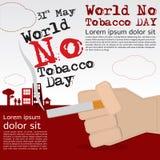 Mundo ningún día del tabaco. Foto de archivo libre de regalías