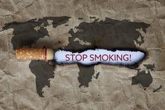 Mundo ningún día del tabaco Fotografía de archivo libre de regalías