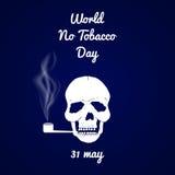 Mundo ningún día del tabaco Foto de archivo