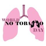 Mundo ningún día del tabaco Fotos de archivo libres de regalías