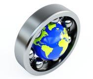 Mundo no rolamento Imagens de Stock Royalty Free