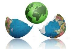 Mundo novo carregado Fotografia de Stock