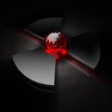 Mundo nuclear - Ásia Foto de Stock Royalty Free