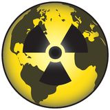 Mundo nuclear Imágenes de archivo libres de regalías