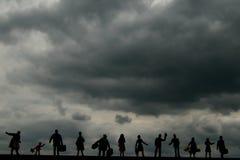 Mundo oscuro de la nube Foto de archivo libre de regalías