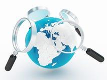 Mundo ou Internet da busca Foto de Stock Royalty Free