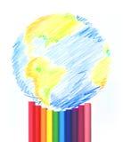 Mundo pintado Fotografia de Stock