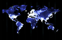 Mundo por noche Imagen de archivo libre de regalías