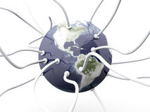 Mundo prendido Imagem de Stock