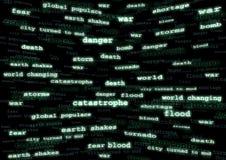 Mundo que cambia el fondo abstracto Imagenes de archivo