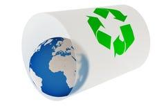 Mundo reciclado Imágenes de archivo libres de regalías