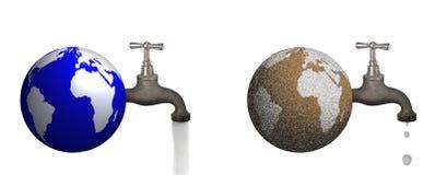 Mundo saudável e da seca para fora Imagem de Stock