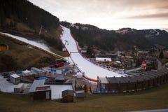 Mundo Ski Men Ita Downhill Race Fotografía de archivo libre de regalías