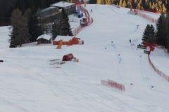Mundo Ski Men Ita Downhill Race Imagen de archivo