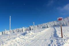 Mundo sob a neve nas montanhas Imagem de Stock Royalty Free
