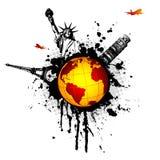 Mundo-splat Imagem de Stock Royalty Free