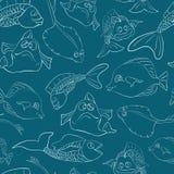 Mundo subacuático de los pescados inconsútil Foto de archivo libre de regalías