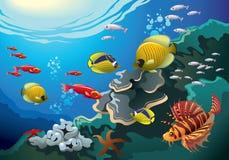 Mundo subaquático ilustração do vetor