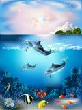 Mundo subaquático ilustração royalty free