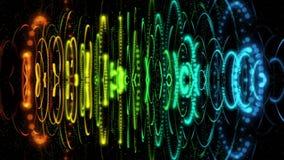 Mundo subatómico en una animación futurista stock de ilustración