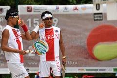 Mundo Team Championship 2015 del tenis de la playa Imagen de archivo libre de regalías