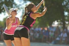 Mundo Team Championship 2014 do tênis da praia foto de stock