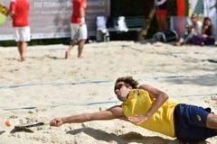 Mundo Team Championship 2015 do tênis da praia imagem de stock