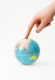 Mundo tocante Imagem de Stock Royalty Free