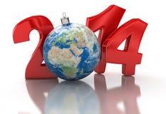 Mundo 2014 (trayectoria de la Navidad de recortes incluida) Fotos de archivo