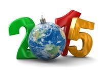 Mundo 2015 (trayectoria de la Navidad de recortes incluida) Fotografía de archivo libre de regalías
