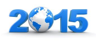 Mundo 2015 (trayectoria de la Navidad de recortes incluida) Fotos de archivo