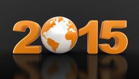Mundo 2015 (trayectoria de la Navidad de recortes incluida) Foto de archivo libre de regalías