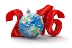 Mundo 2016 (trayectoria de la Navidad de recortes incluida) Imagen de archivo libre de regalías