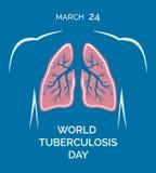 Mundo tuberculosis día 24 de marzo Pulmones humanos Imagen de archivo