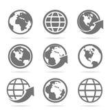 Mundo um ícone Fotografia de Stock Royalty Free
