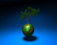 Mundo verde ilustración del vector