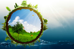 Mundo verde Imagenes de archivo