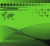 Mundo verde ilustração stock