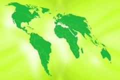 Mundo verde Imágenes de archivo libres de regalías