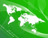 Mundo verde Imagens de Stock Royalty Free