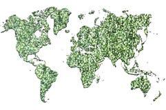 Mundo verde Fotos de Stock Royalty Free