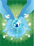 Mundo verde Imagens de Stock