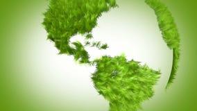 Mundo verde, animação 3d ilustração stock
