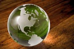 Mundo verde com copyspace Fotos de Stock Royalty Free